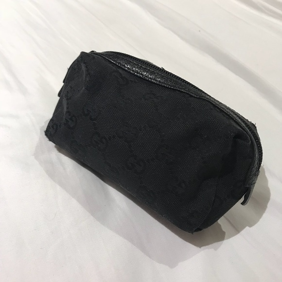7ad4ac201e8840 Gucci Bags   Black Cosmetic Makeup Bag Or Pouch   Poshmark